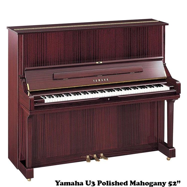Yamaha U3 in polished mahogany